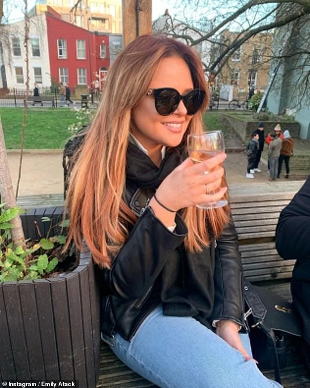 'It's my happy place': The actresssaid while she's overhauled her lifestyle, she 'can't wait' to get back in the boozer (pictured before lockdown)