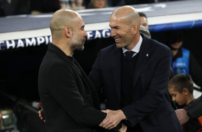 Pep Guardiola and Zinedine Zidane