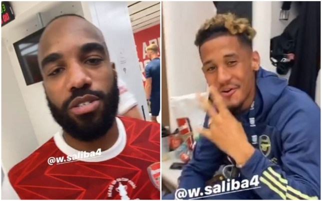 Alexandre Lacazette aimed a dig at Arsenal teammate William Saliba over his former club