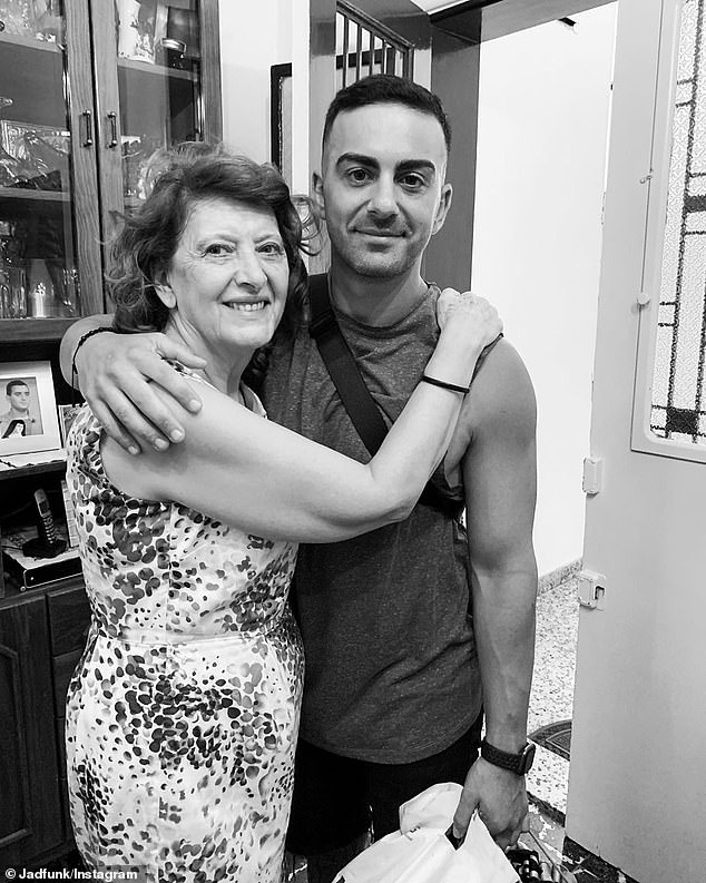 Tragic: He shared a photo with his aunty to Instagram and said she's currently in hospital and her home has been destroyed after an explosion hit the city
