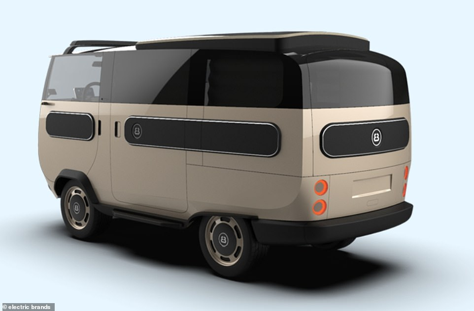 'Camper' resembles a traditional VW campervan, complete with interior couch, fridge, TV, hob, fresh water tank and sink.