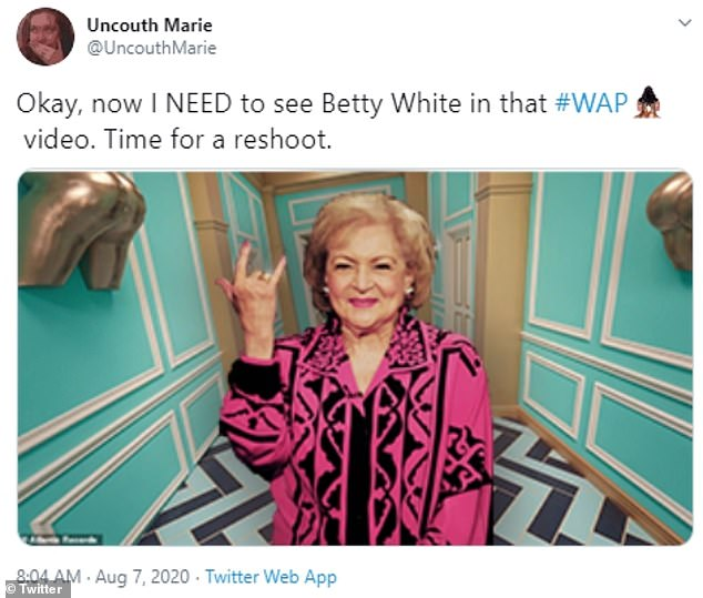 Upgrade: Some have even jokingly suggested replacing her with Betty White, making the Golden Girls star trend on Twitter