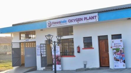 One of Hewatele's oxygen pants, Kenya. 'Hewatele' means 'abundant air' in Swahili.