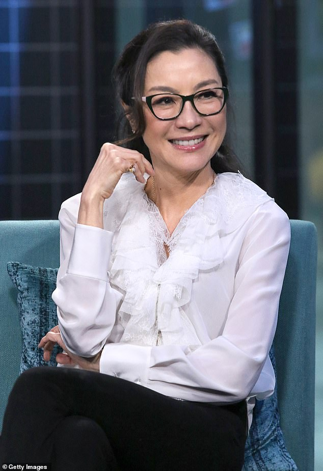 Back to business: Michelle is set to resume filming for Marvel's first Asian based superhero film in Sydney's west after production was halted due to the coronavirus pandemic