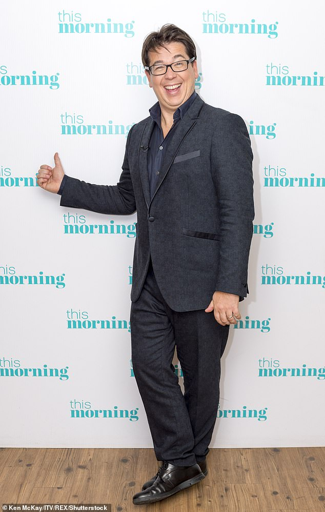 Much to celebrate: He's had much to celebrate over the past few weeks, after it was announced that he will host new primetime BBC show The Wheel. Pictured in November 2017