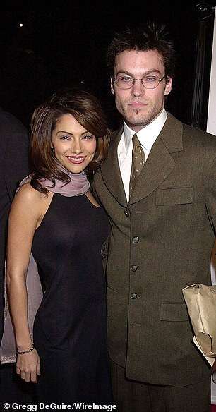 Vanessa Marcil pictured with Brian Austin Green in 2000