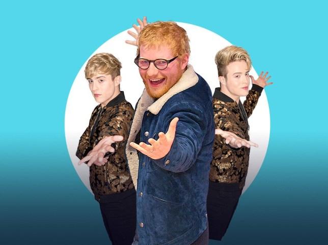 Ed Sheeran and Jedward