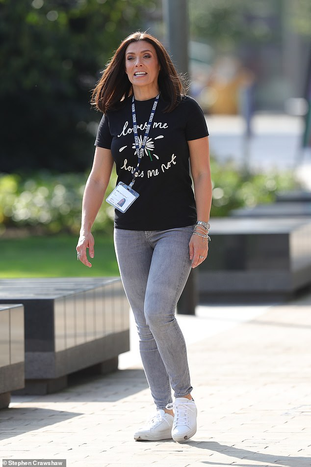 Looking good!Kym Marsh showcased the results of her hard work, as she arrived at filming for on her BBC show in Salford's Media City on Tuesday afternoon