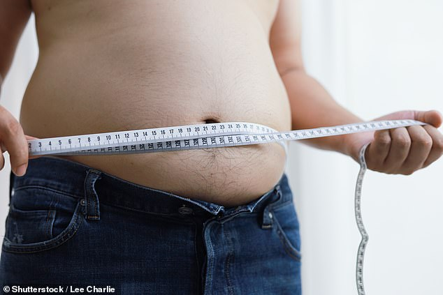 Men who store fat around their midriff are in greater danger of dying from prostate cancer, research suggests (stock image)