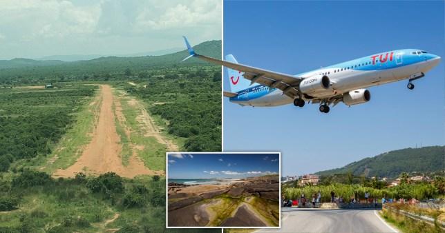 Msembe Airstrip in Tanzania and Skiathos (Alexandros Papadiamantis) Airport in Greece