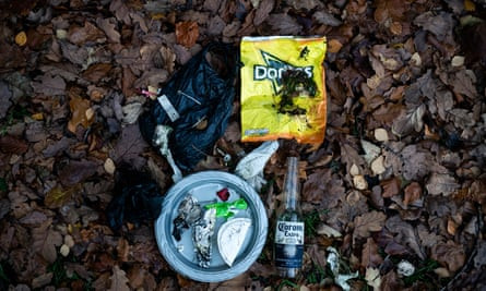 Rubbish from a litter pick on Helvellyn during Kendal Mountain festival in 2019.