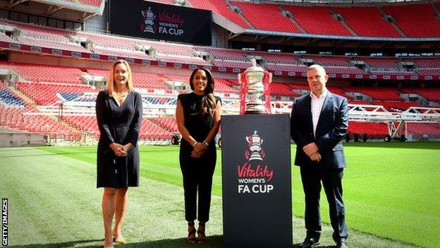 FA with Vitality and the FA Cup trophy