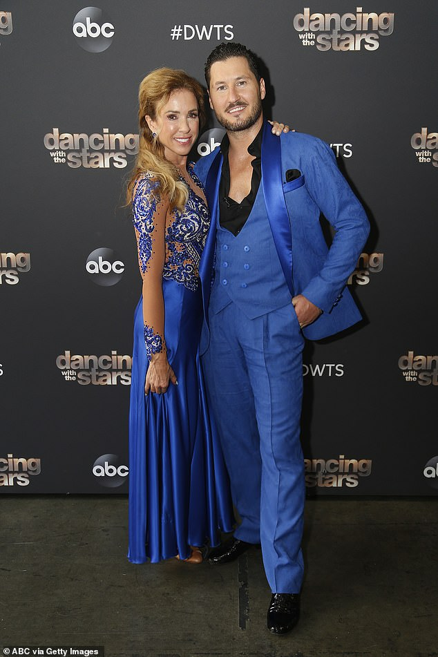 The show must go on: Monica is still competing on Dancing With The Stars; seen on Monday with her professional partner Val Chmerkovskiy