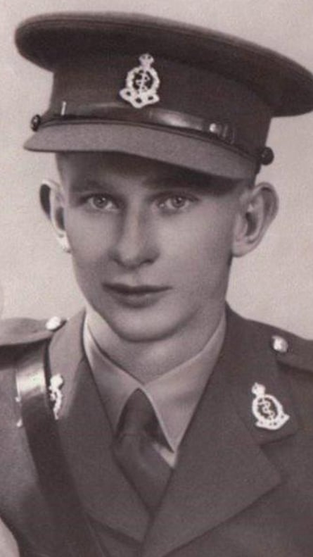 Norman 'Tony' Walker as a young man in uniform