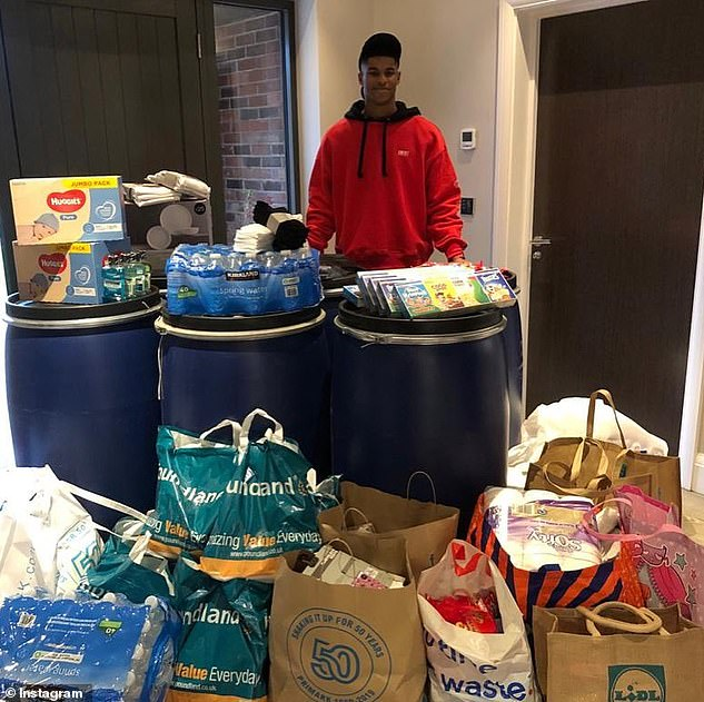 Support: Along with his school meals campaign, Rashford has already helped to raise £20million to fund 3.9million meals for vulnerable children in lockdown