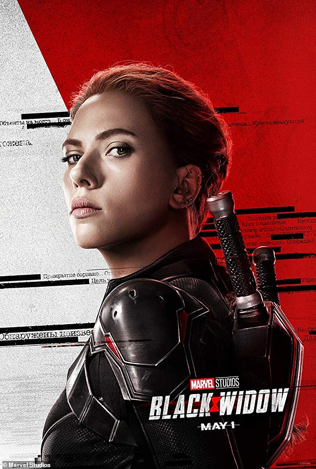 Work in progress: Black Widow had originally been scheduled to debut in May before Disney moved it to Nov. 6