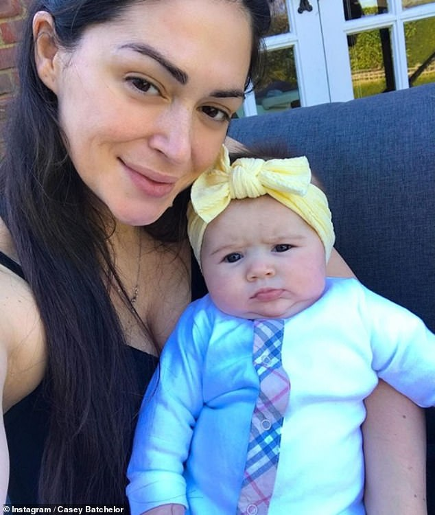 Transformation: Following the birth of her daughter, Sadie, nine months, the TV personality began a 90-day fitness plan and displayed the fruits of her labour in the social media post
