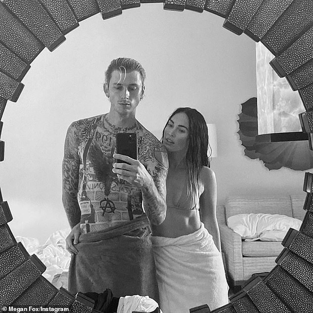 Freedom: The 51-year-old Daytime Emmy winner Instastoried that she 'actually has respect' for the Tennessee-born 34-year-old (R) 'living her life for herself' and moving on with co-star Machine Gun Kelly (L, pictured August 5)