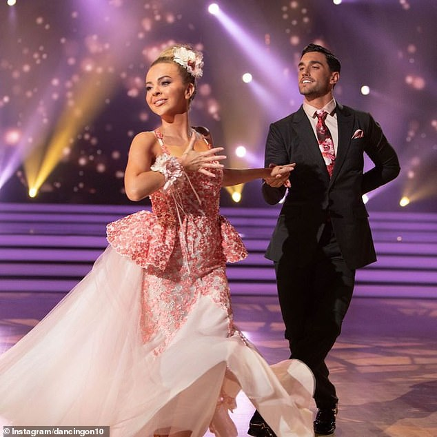 Jealous: Carlin said that Angie's friendship with her Dancing with the Stars partner, Julian Caillon (right), also didn't help with his feelings of insecurity