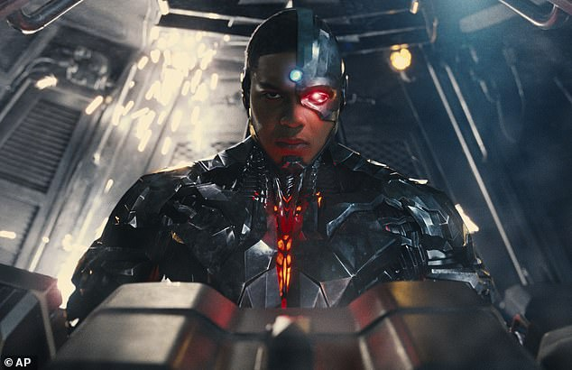 Leading man: He starred as Cyborg in 2016's film Batman v Superman: Dawn of Justice, as well as the 2017 followup Justice League, and he's contracted to appear in future titles, including a solo Cyborg film