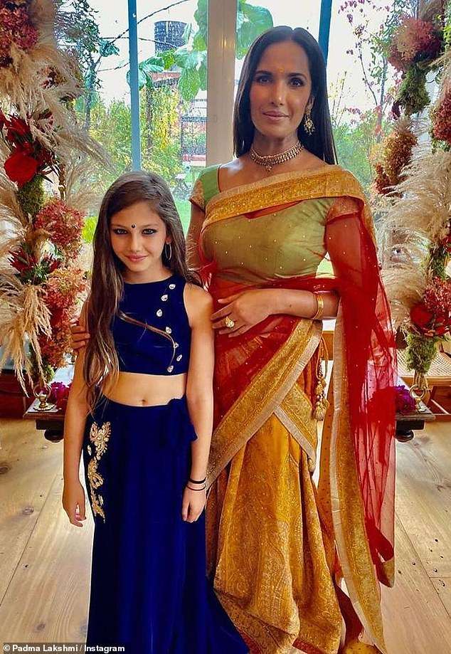 That's her girl: Lakshmi said her daughter 'continues to be a miracle every day'