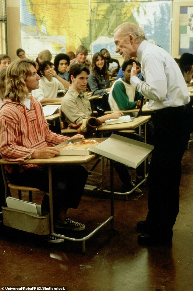 No repeats: Penn hasn't said who he'll play, though he confirmed he won't reprise his role as Jeff Spicoli, which catapulted him to the A-list; still from Fast Times At Ridgemont High