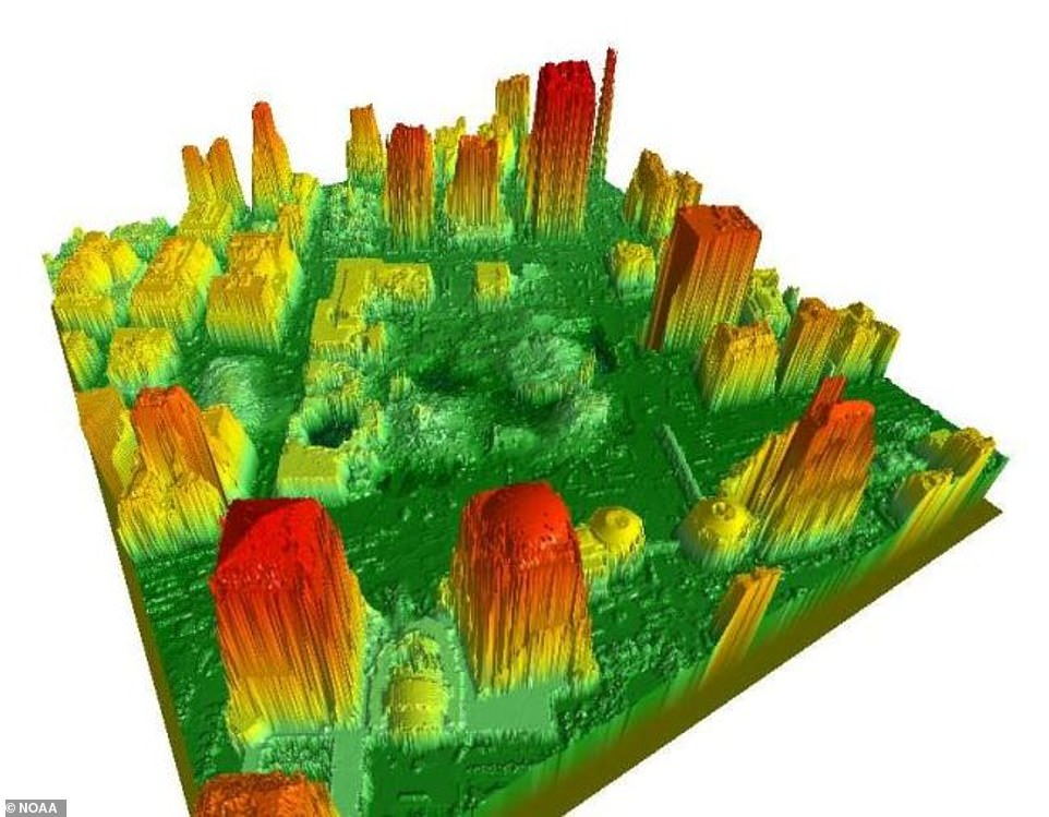 The National Oceanic and Atmospheric Administration (NOAA) offered their services to officials following the attacks, but constructing a 3D model of the surround area. The organization used LIDAR (Light Detection and Ranging) to create a digital surface model to help locate structures, including stairwells, elevator shafts and basements