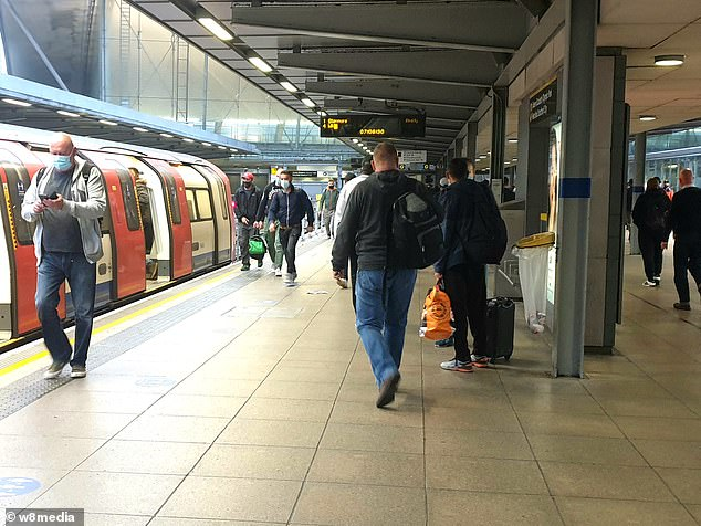 A quiet London Tube station this morning, amid warnings the capital could see new lockdown measures
