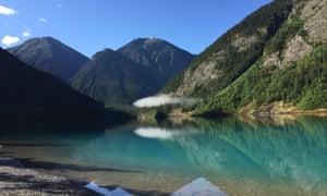 A morning cloud at Kinney Lake, British Columbia, Canada.
