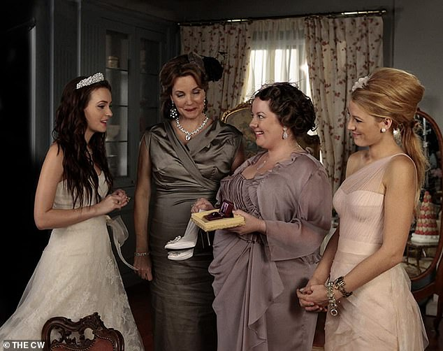 Her hit TV series: Meester with Blake Lively, far right, on Gossip Girl which aired from 2007 until 2012