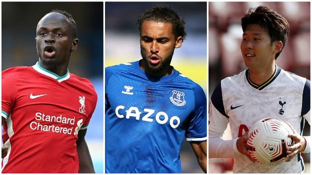 Sadio Mane (Liverpool), Dominic Calvert-Lewin (Everton), Son Heung-min (Tottenham)