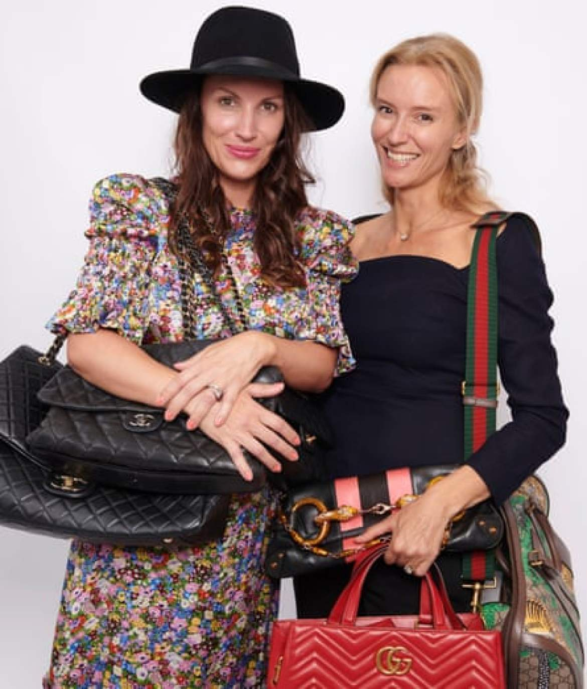 What's mine is yours: Sacha Newall and Tina Lake of My Wardrobe HQ.