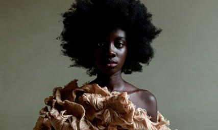 Claudia Gisèle Ntsama's cocktail dress