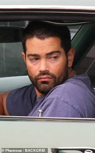 Classic: Jesse Metcalfe rolled up to rehearsals in his classic car
