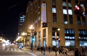 The Twitter headquarters in San Francisco, California, before the pandemic.