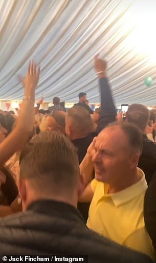 Flouting the rules! The Swan threw a huge event - charging revellers £120 each for the pleasure - promising to adhere to social distancing and the pandemic public safety guidelines
