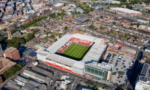 An aerial view of Bramall Lane, the home stadium of Sheffield United