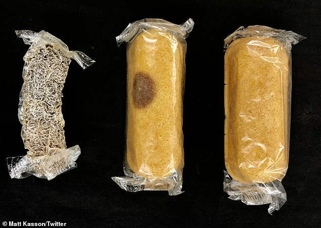 Researches were called upon to investigate 'mummified' and moldy cakes that tasted like 'rotting ginkgo fruit.' They discovered a common airborne mold snuck inside the plastic wrapping when the Twinkie was being package and feasted on the yellow dessert