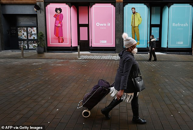 The 1986 government health campaign was designed to raise awareness of the emerging threat of HIV and AIDS.Some scientists claimed the mysterious new virus had an 'explosive' infection rate and projections suggested a million people in Britain could be infected and die within a few years (sound familiar?) (Pictured: Shoppers yesterday in Leeds)