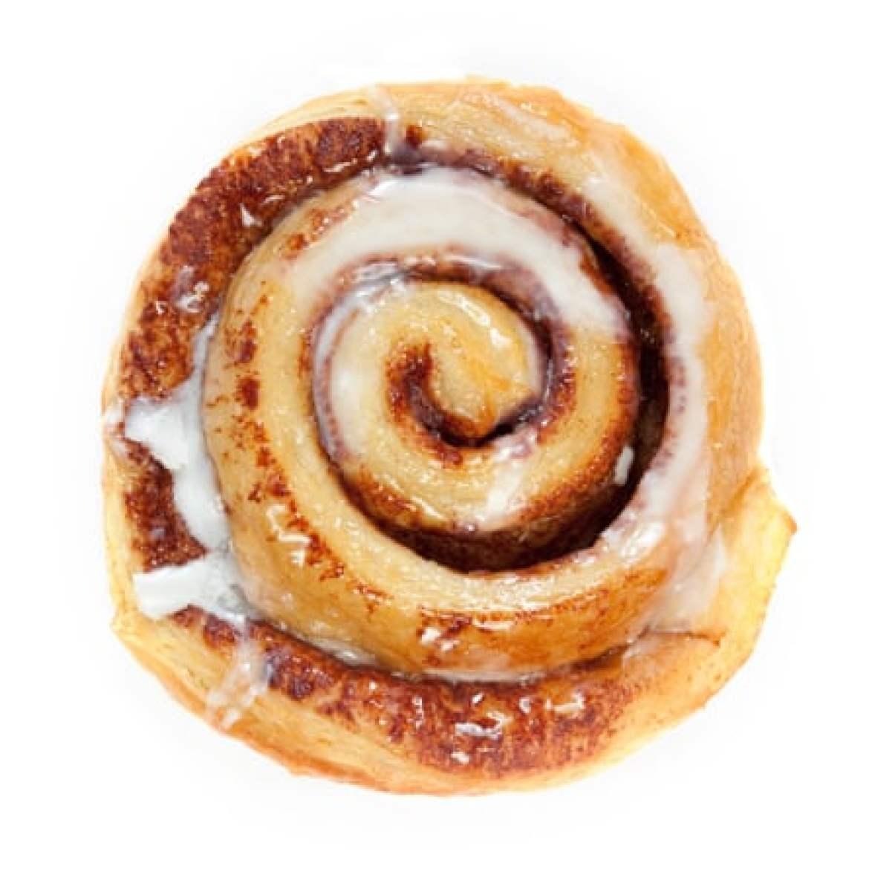 A cinnamon roll