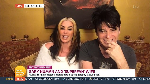 Dangerous liaisons: Gary Numan and his wife Gemma have recalled the moment her breasts 'exploded' during a camping trip