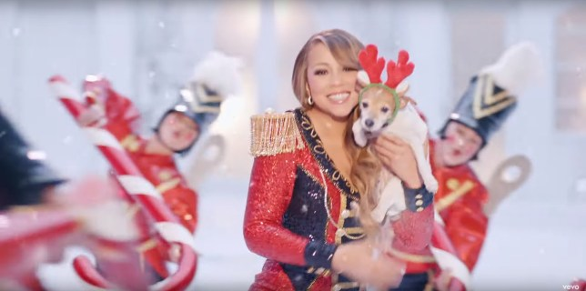Mariah Carey in All I Want For Christmas music video