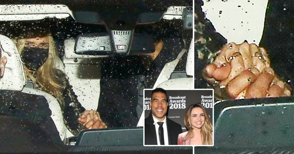 Nadine Coyle holds hands with Jason Bell