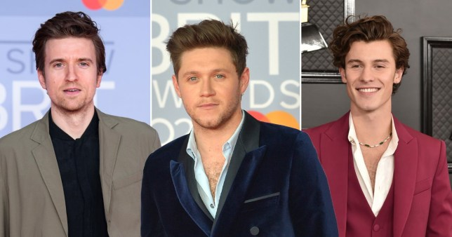 Niall Horan  Greg James Shawn Mendes