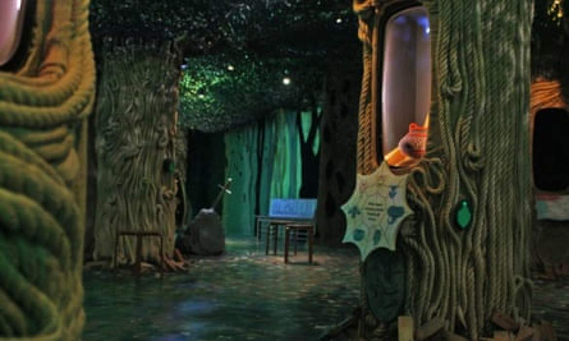 The whispering wood where children share their own stories.