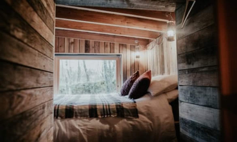 bedroom at Log Jam
