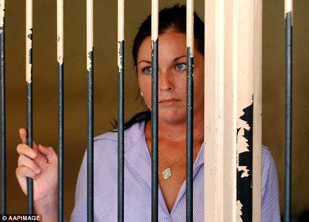 Arrest: In May 2005, just a month after the Bali Nine arrests, Schapelle Corby was convicted of drug trafficking and sentenced to 20 years behind bars.She was released on parole in 2014 after serving nine years, and was deported back to Australia in 2017. Pictured in April 2005
