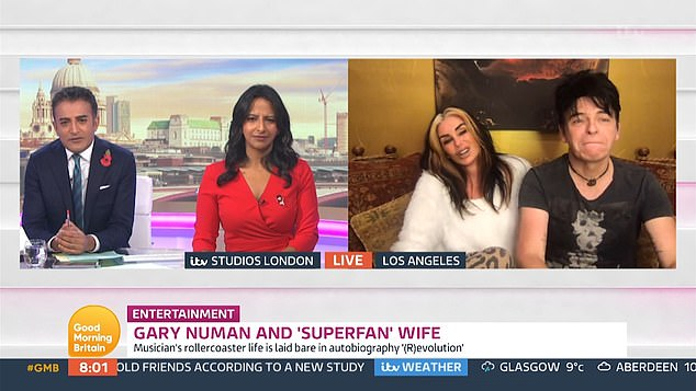 Transatlantic chat: The couple regaled the hosts of Good Morning Britain with the tale on Tuesday's show, speaking from their home in the states
