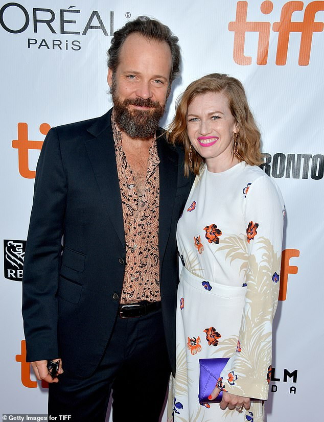 On screen couple: In The Lie, King plays the teen daughter of Peter Sarsgaard and Mireille Enos who confesses to her parents that she's killed her best friend