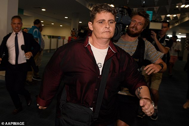 Second chance: Lawrence was convicted in 2006 alongside eight other Australians of attempting to bring 8.3kg of heroin from Bali to Sydney in a botched smuggling plot.She was the only member of the syndicate to be shown any mercy by the court, and was released and deported in 2018, after serving 13 years. Pictured atNewcastle Airport onNovember 22, 2018